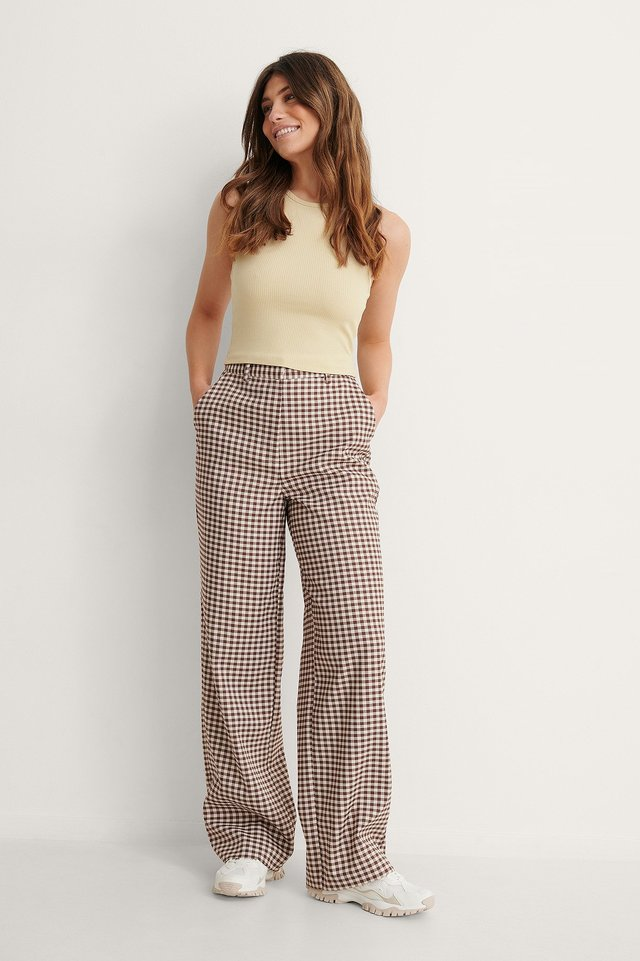 Checked Suit Pants Outfit