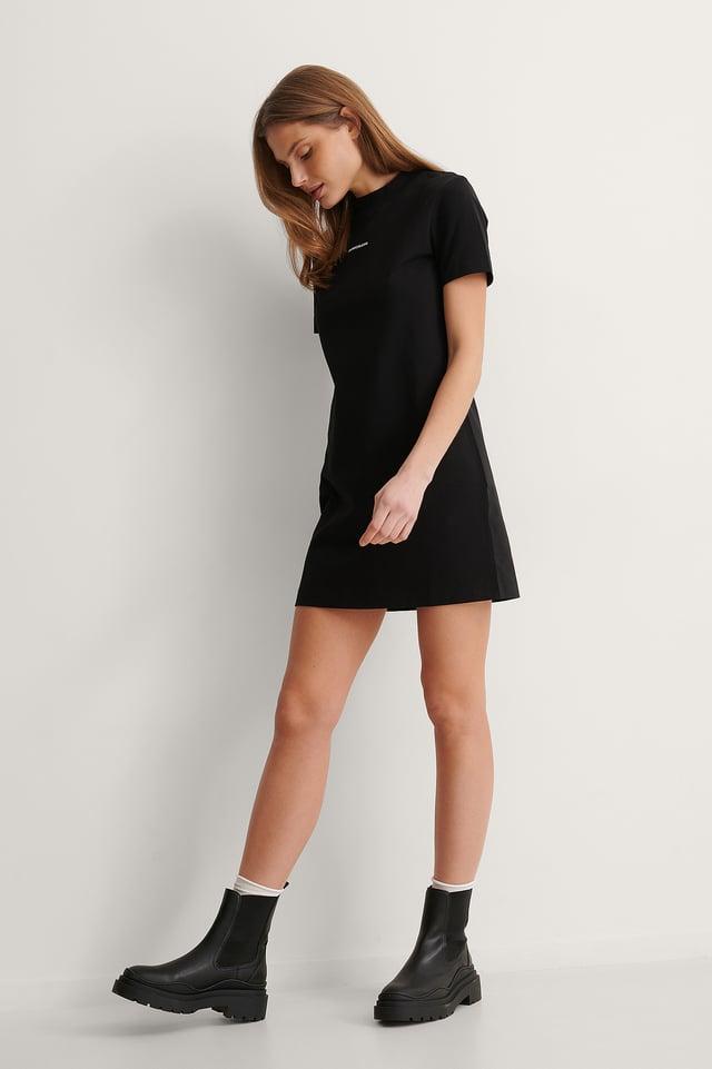 Micro Branding T-shirt Dress Outfit.