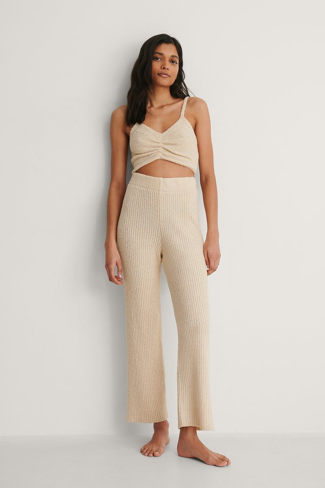Knitted Cropped Trousers