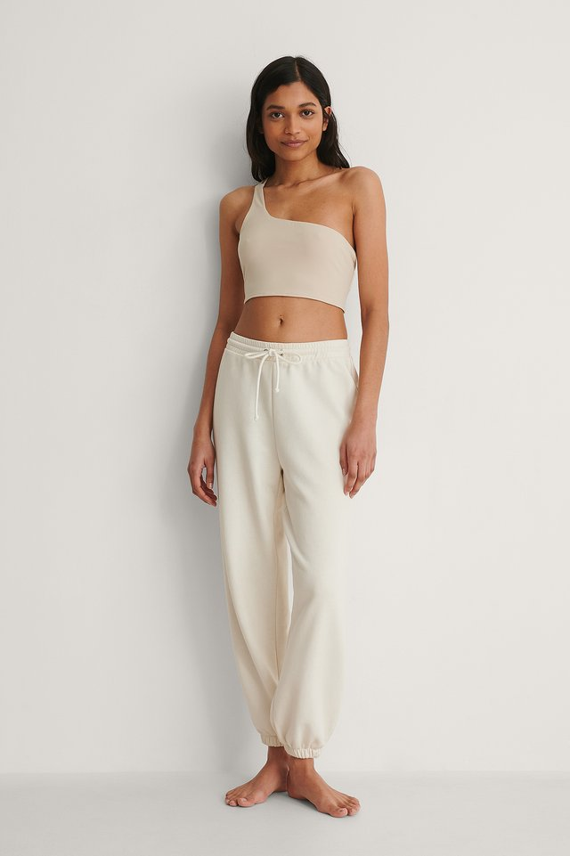 One Shoulder Crop Top Outfit.