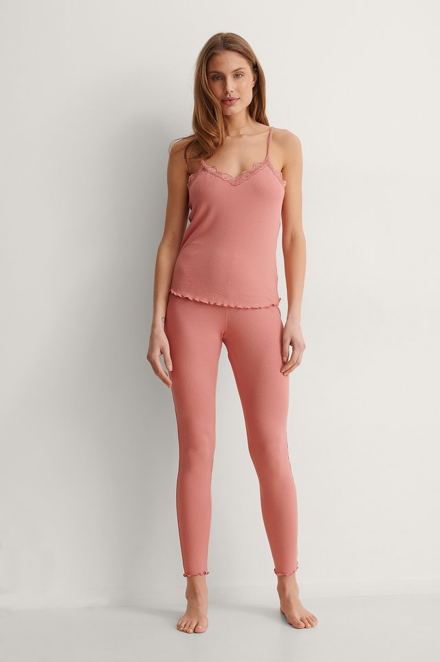Babylock Loungewear Lace Singlet Outfit.