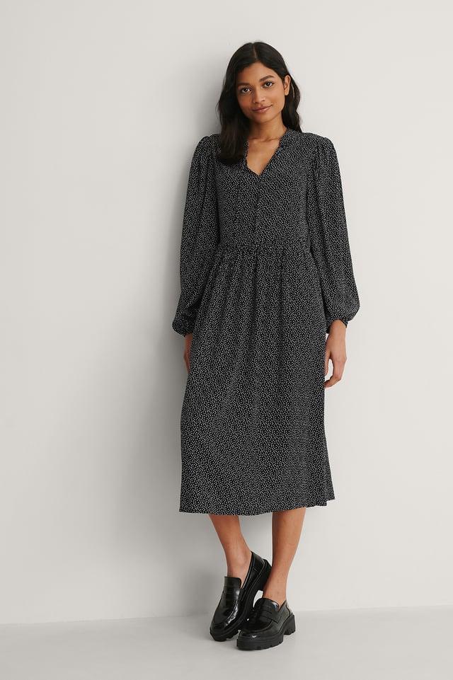 NA-KD Flowy LS Maxi Dress Outfit