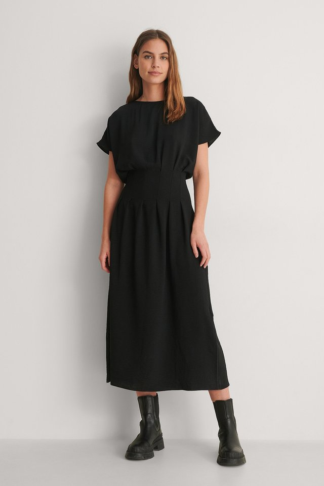 Trendyol Waist Detailed Maxi Dress Outfit