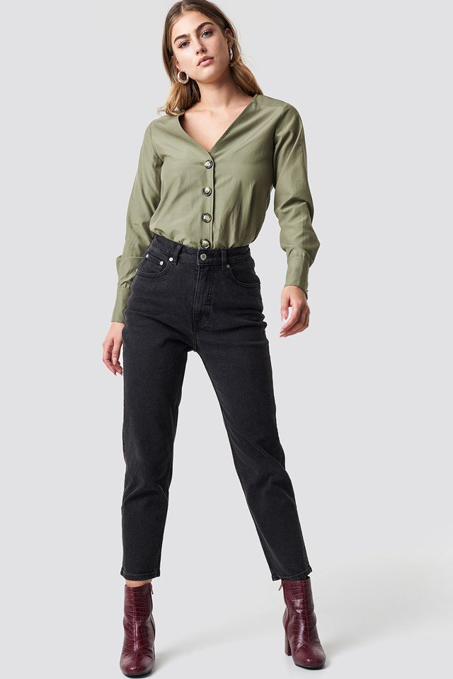 Tortoise Buttoned Blouse