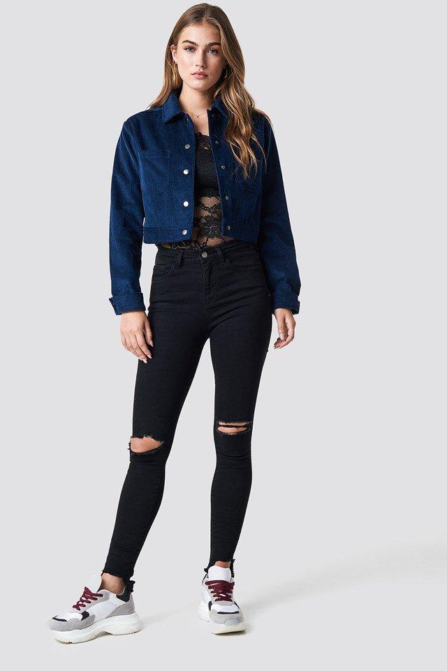 Oversized Short Corduroy Jacket