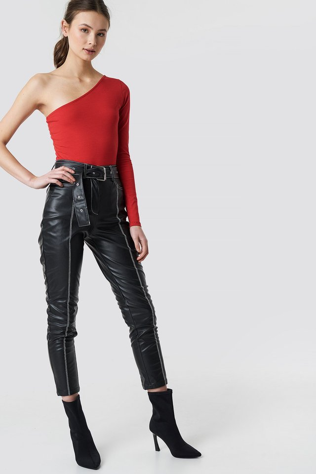 Red One Shoulder Body