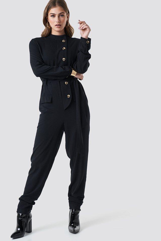 Jumpsuit outfit.