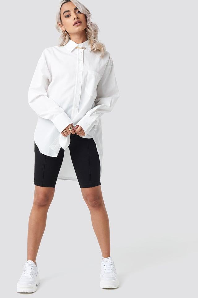 Yol Boyfriend Shirt Ecru Outfit