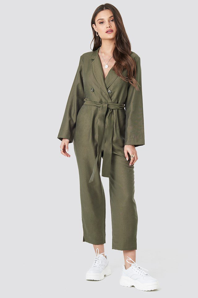 Soldi Jumpsuit Green Outfit