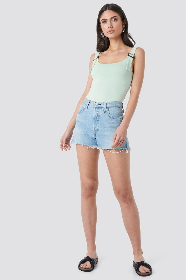 Offwhite Basic Ribbed Tank Top
