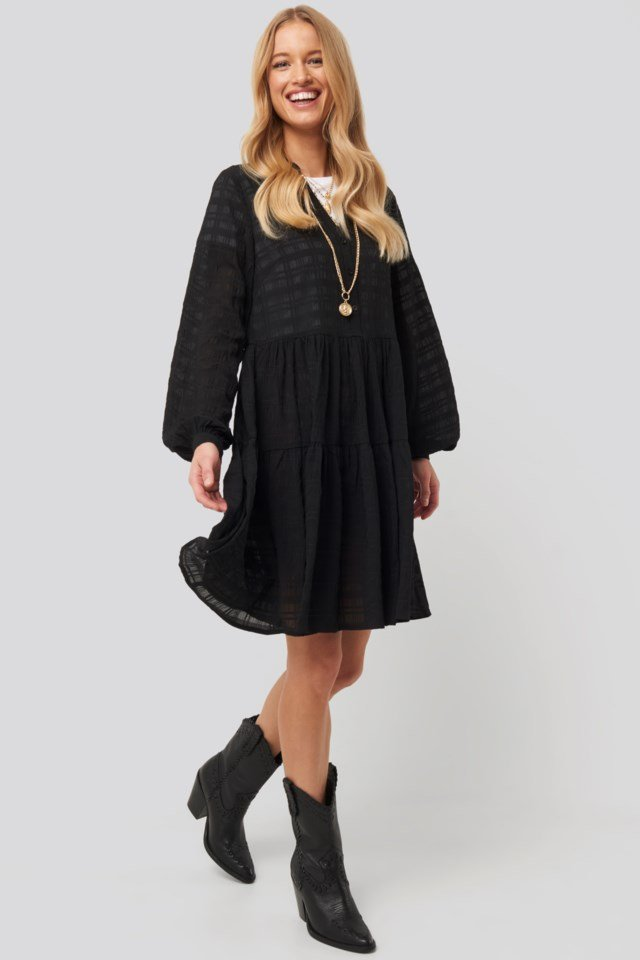 Structure A-Line Dress Black Outfit