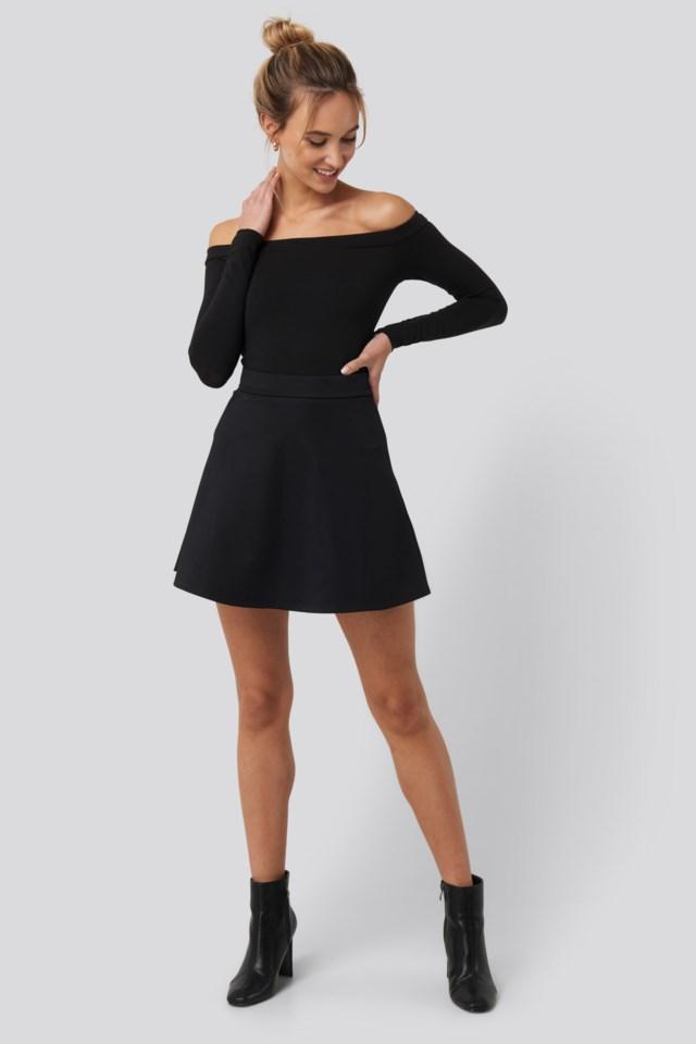 Long Sleeve Bardot Top Outfit