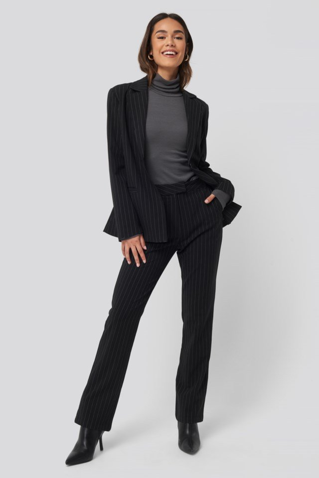Ribbed Turtle Neck Look