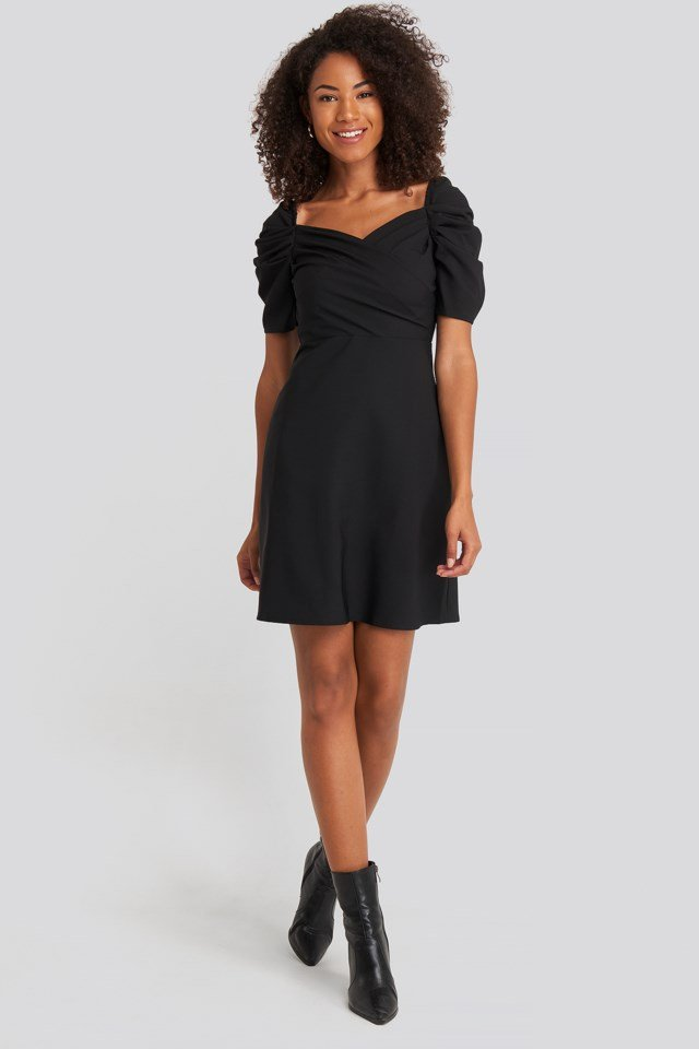 Sleeves Flywheel Mini Dress Outfit