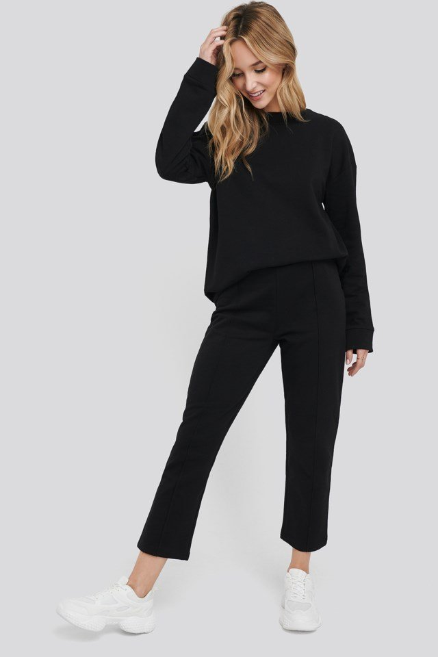Basic Cropped Joggers Outfit