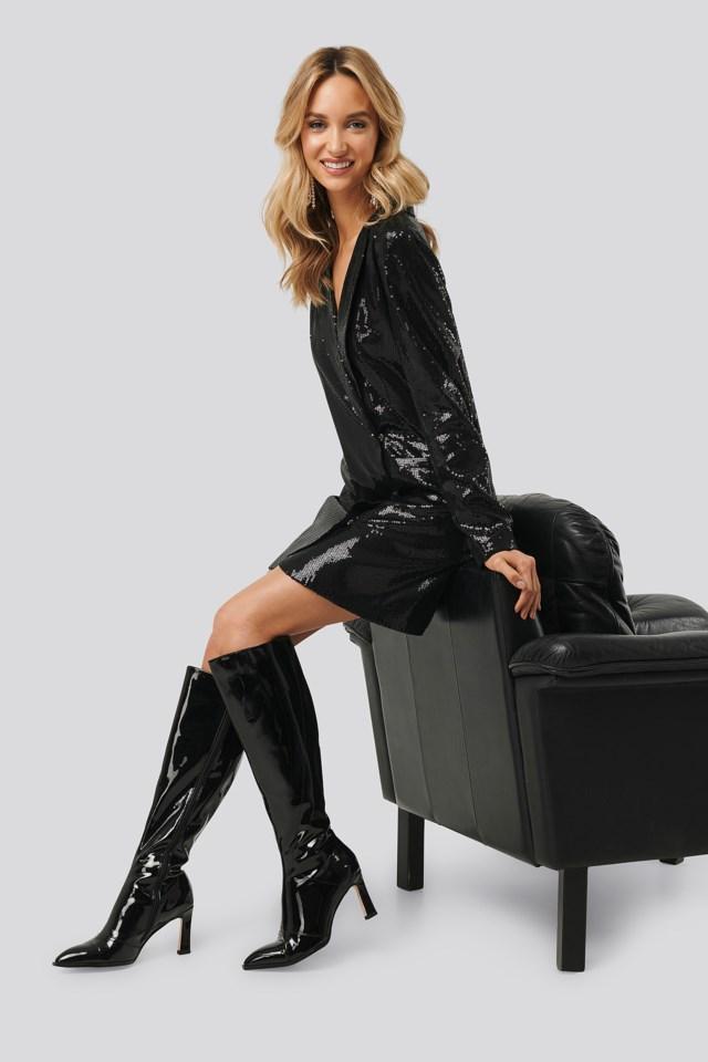 Sequin Blazer Dress Outfit