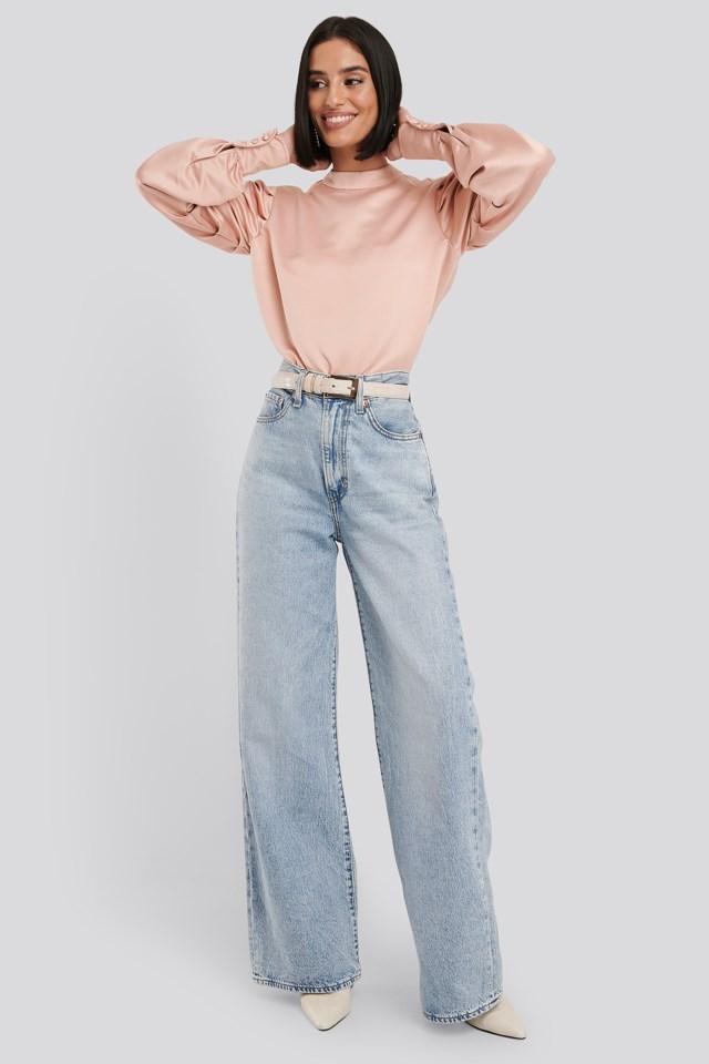 Oversized Puff Sleeve Blouse