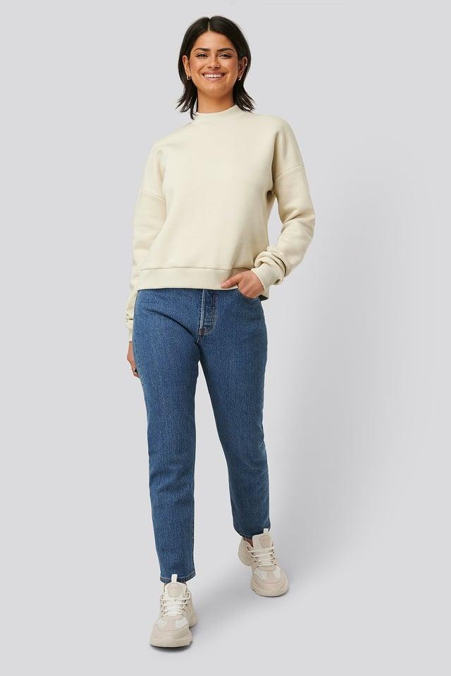 Mock Up Neck Sweater