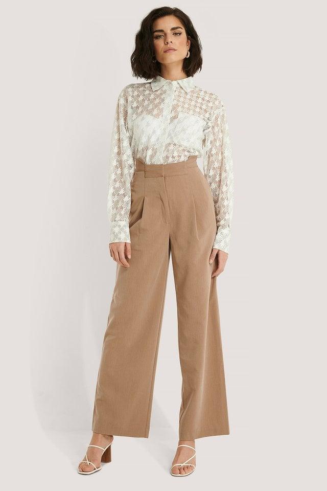 Asymmetric Waist Pants
