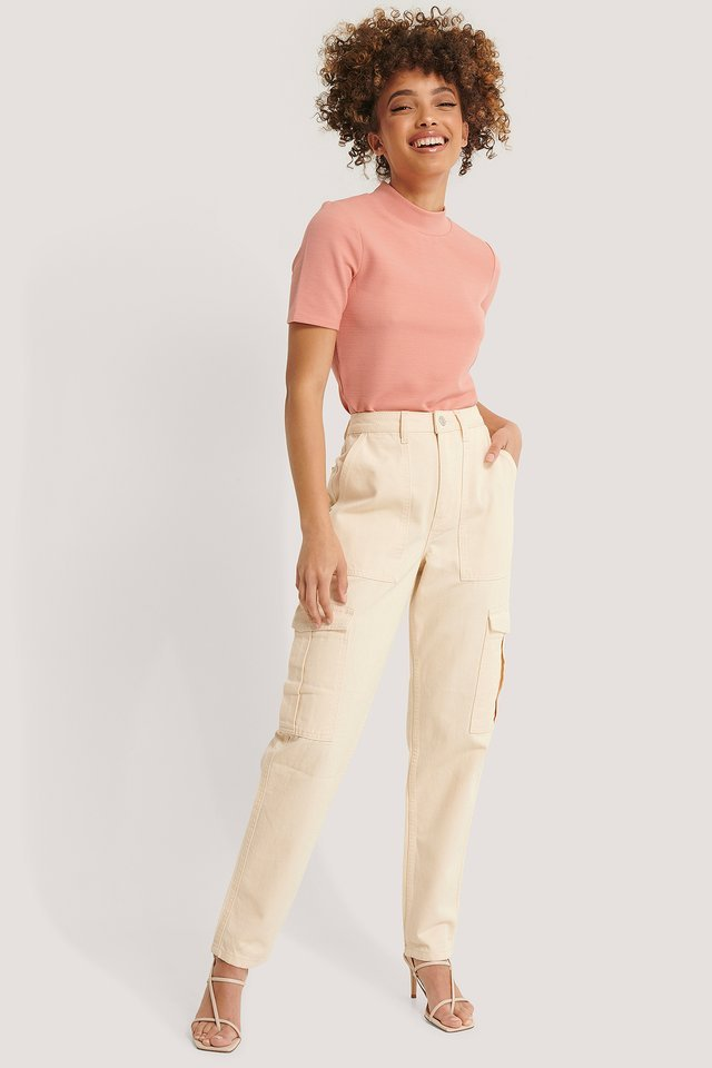 Short Sleeve Ribbed Top Outfit