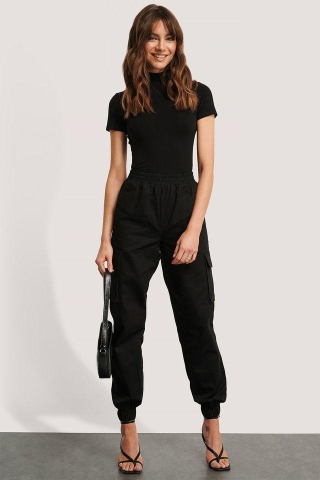 gloss black Baguette Bag