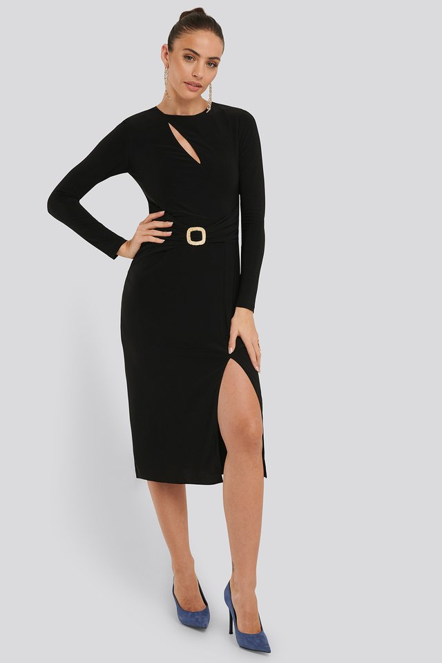 Accessory Detail Dress Black