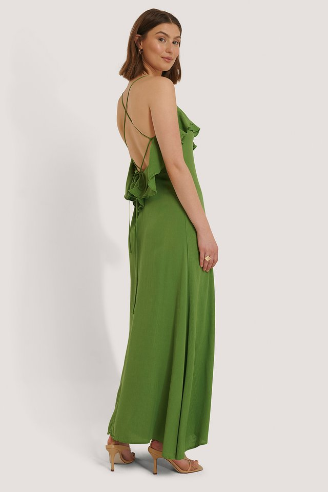 Green Robe En Viscose
