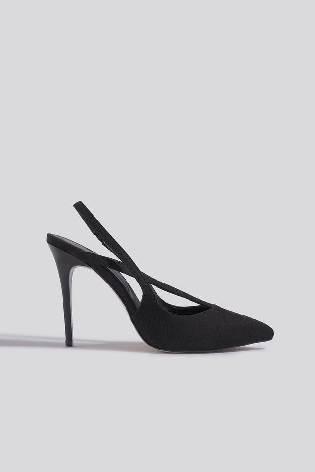Black Suede High Heels Black