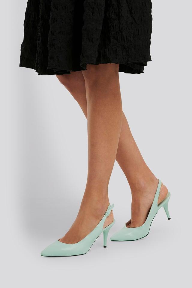Classic Heels Buckle Sandal Mint
