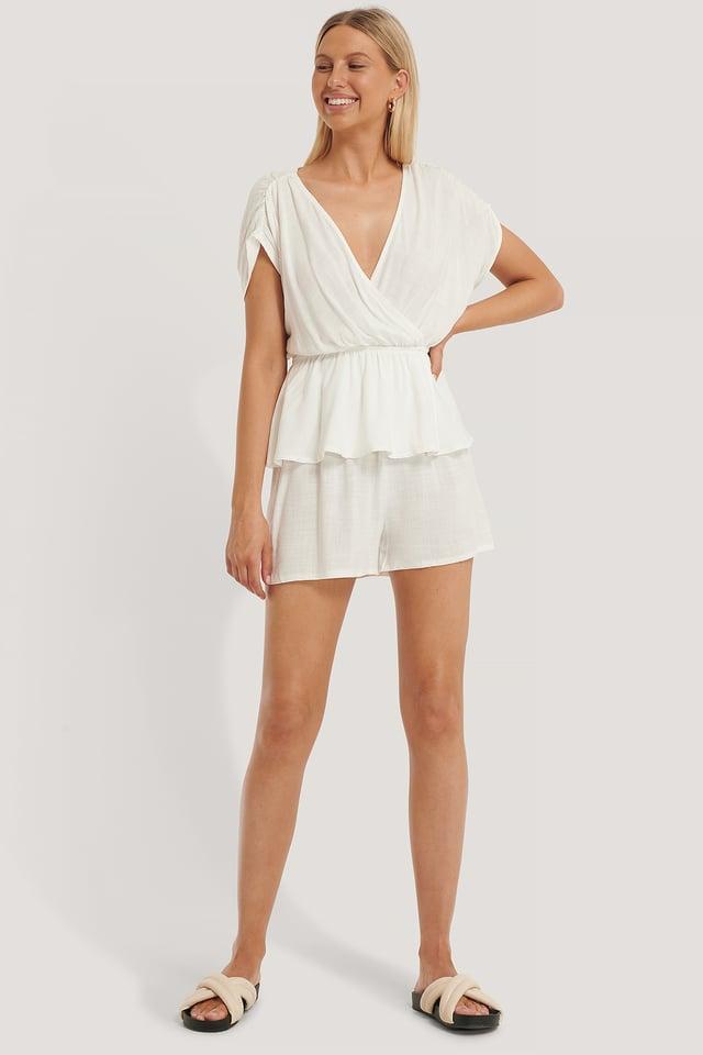 Ensemble Pyjama Coupe Ample White