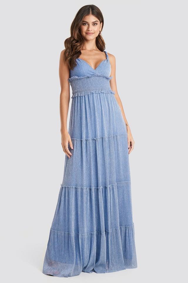 Lila Guipure Evening Dress