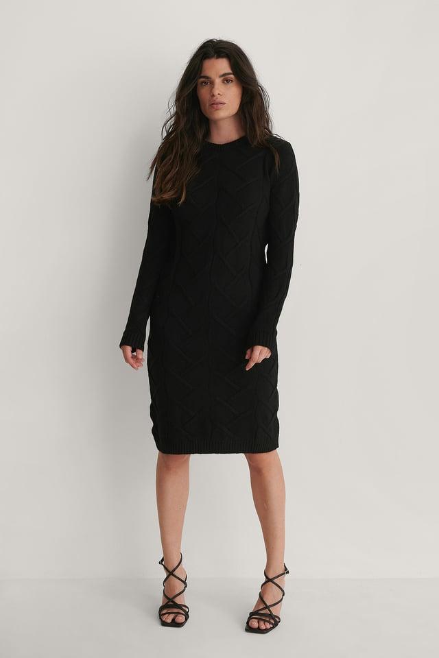 Robe Tricotée Black