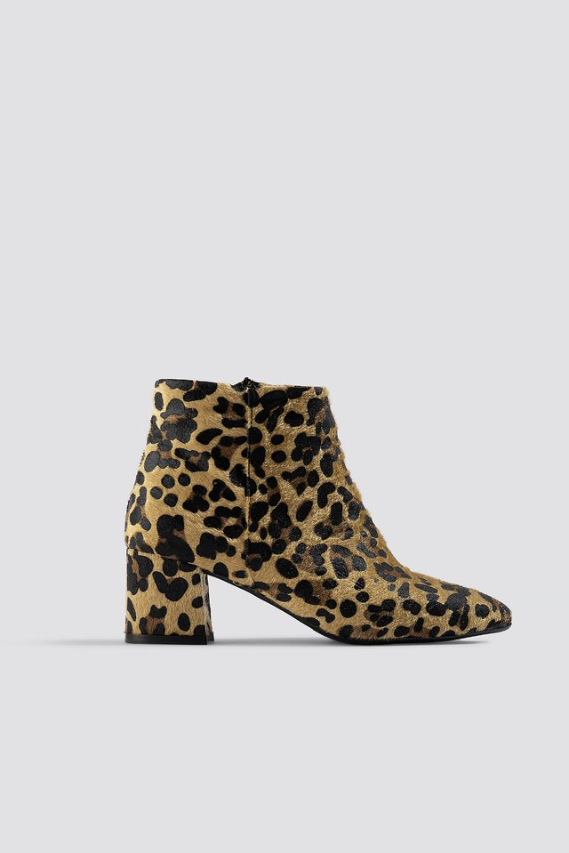 Leo Printed Boots Brown
