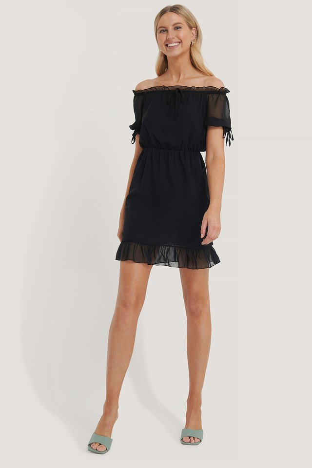 Mini Robe En Maille Black