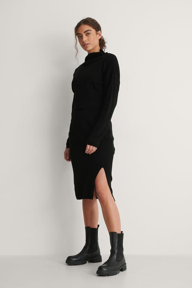 Black Milla Knit Set