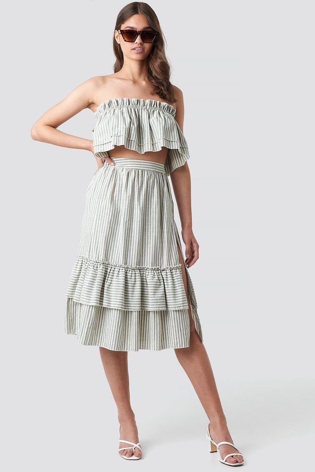 Gray Milla Striped Set