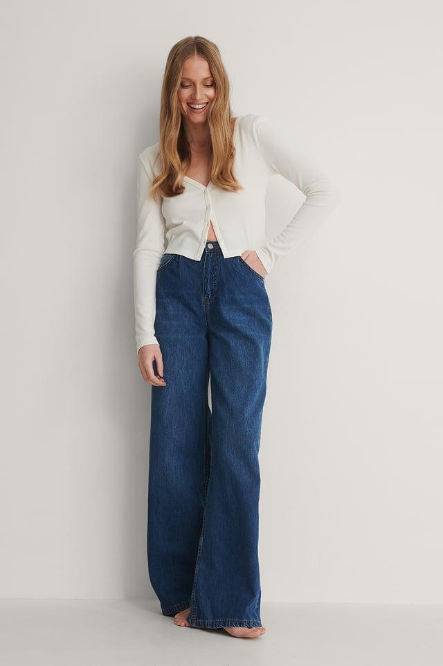 Jean Taille Haute Blue