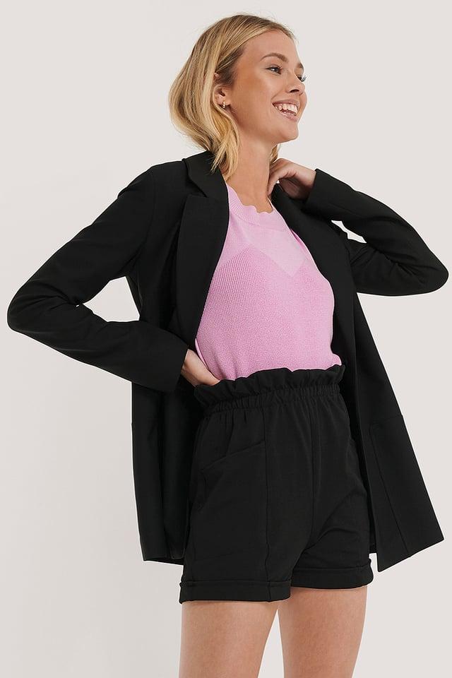 Pocket Detail Bermuda Shorts Black