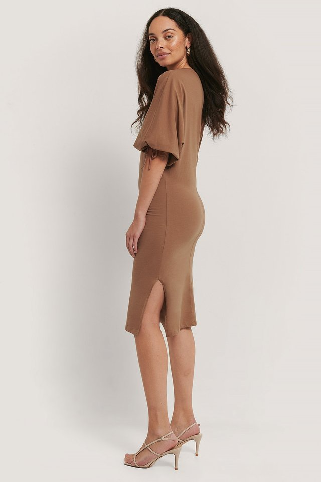 Brown Robe Tricot