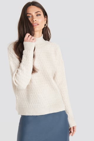 Stone Vertical Polo Light Sweater
