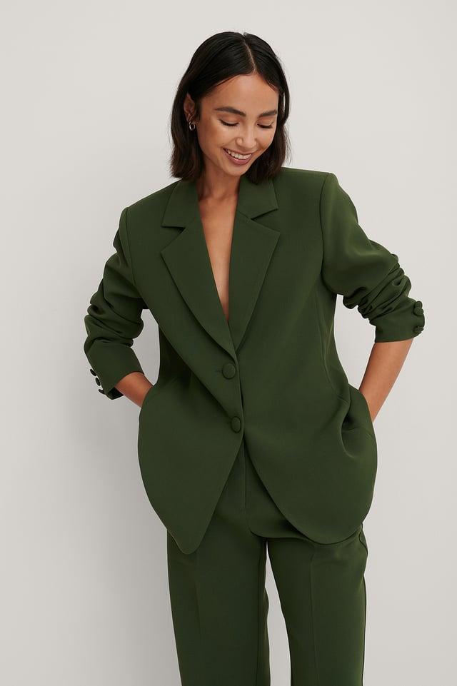 Blazer À Épaulettes Dark Green