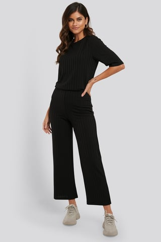 Black Pantalon Ample